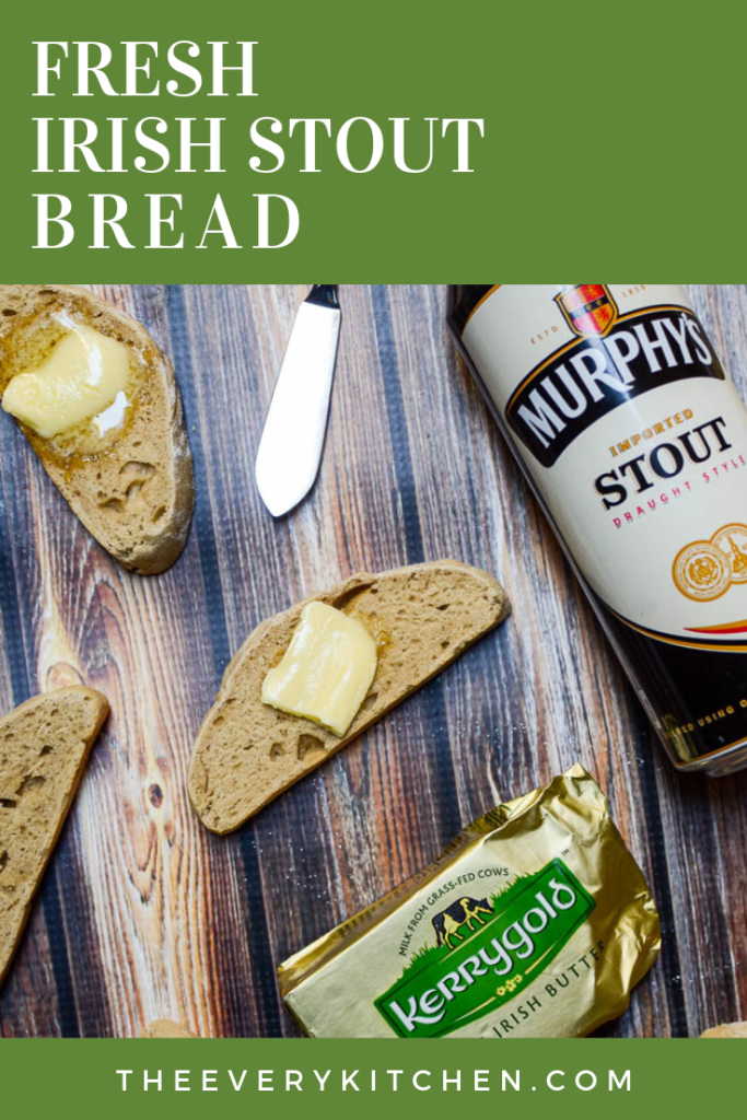 Fresh Irish Stout Bread, made with Murphy's and slathered with Kerrygold | theeverykitchen.com