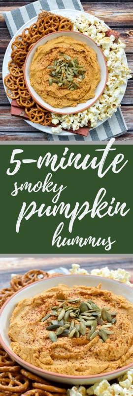5-Minute Smoky Pumpkin Hummus   www.theeverykitchen.com