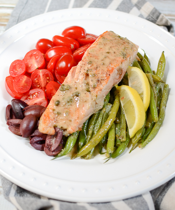 Salmon Nicoise Salad With Dijon Caper Dressing The Every Kitchen