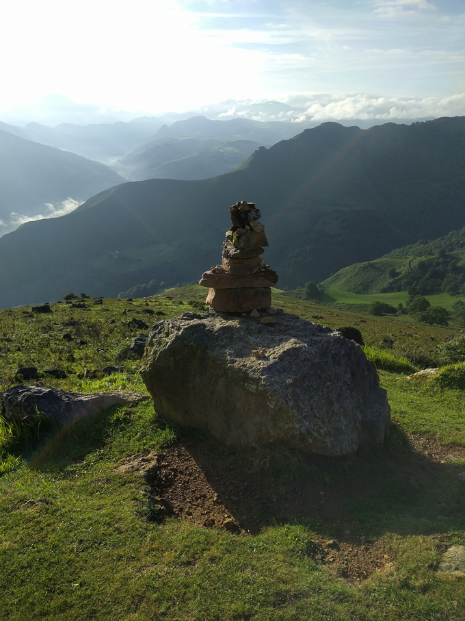 A stone altar in the Pyrenees on the Camino Frances | theeverykitchen.com