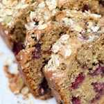 Skinny Peanut Butter and Blackberry Bread