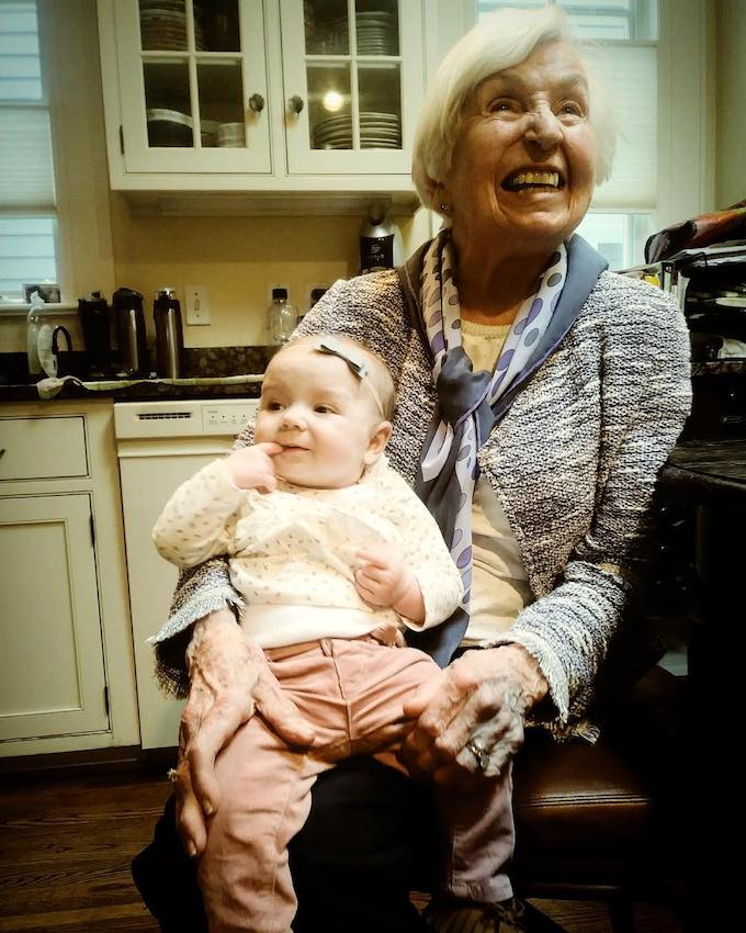 My stunning Nana at age 93 with her great granddaughter | theeverykitchen.com