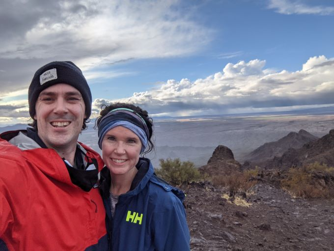 Hiking Picacho Peak with Mr. Cassanova on a wintry day in January | theeverykitchen.com
