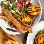 Wilted Spinach Salad with Grilled Peaches: You'll know you got it right when peach juice drips from the corner of your lips and onto your white shirt. In three places. On the first bite. I know from experience.   theeverykitchen.com