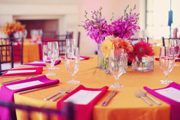 Bright, Modern Pink & Orange Wedding: Part 2