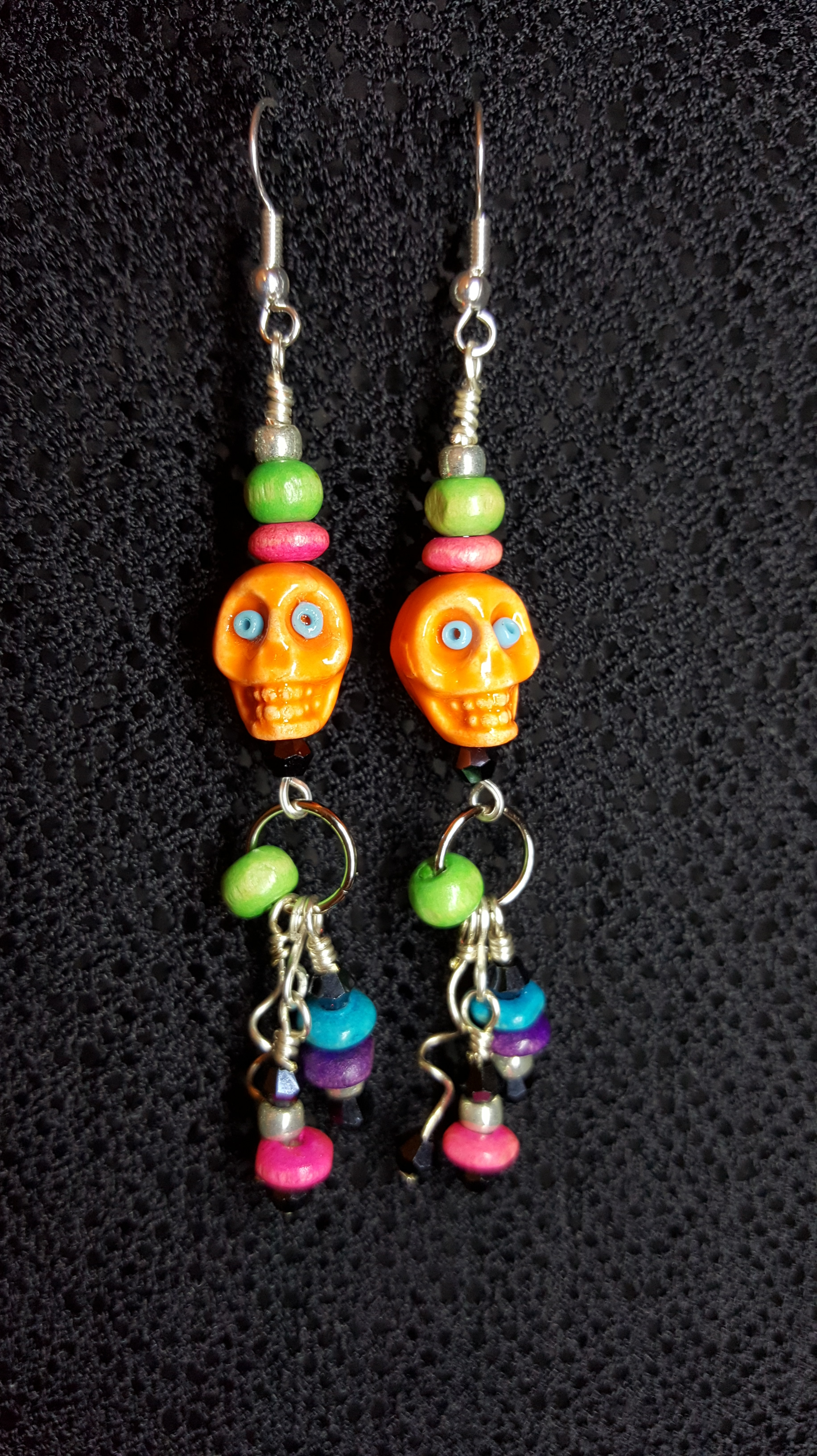 Day-of the Dead Skull Earrings