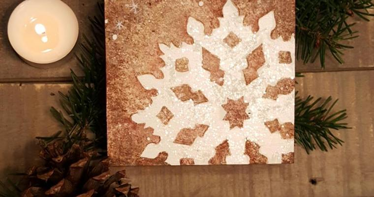 Craft Project: Winter Snowflake Stencil
