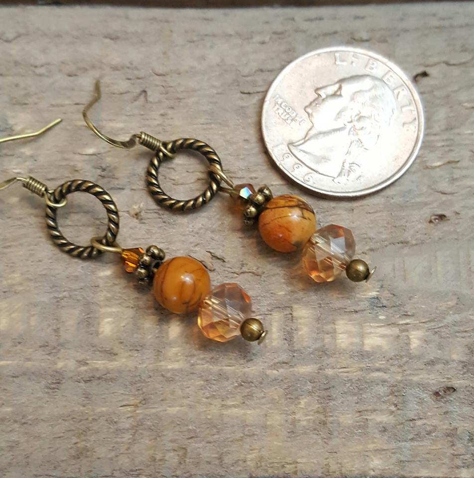 jasper crystal earrings-tawny