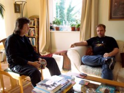 Steve being interviewed by Mark at The Evil Jam