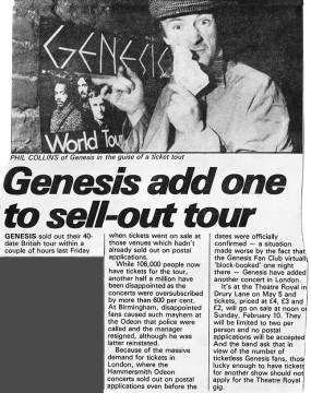 Sounds 9th Feb 1980 Announcement of Drury Lane