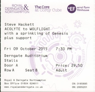 SH Derngate 9th Oct 2015 MK