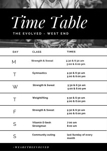 timetable west end gym