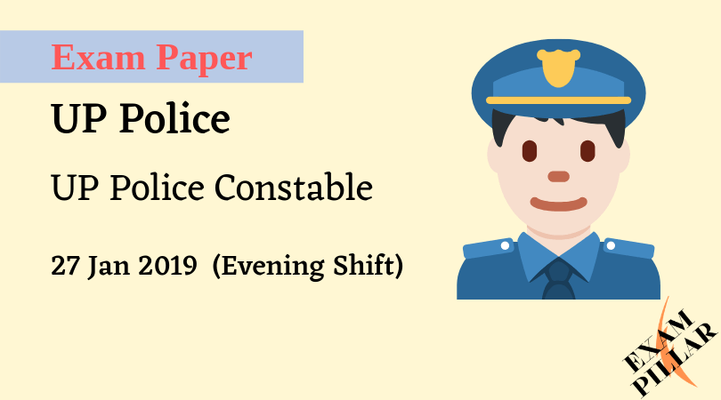 UP Police Constable Exam 27 Jan 2019 AnswerKey