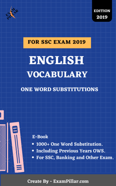 E-Book-ONE-WORD-SUBSTITUTIONS ExamPillar