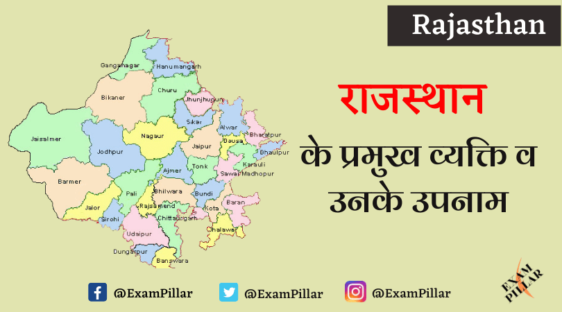 Major People of Rajasthan and Their Surnames