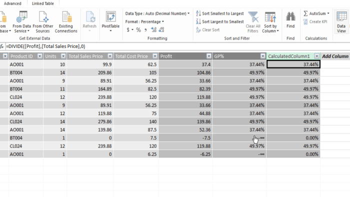 DAX for Power BI and Power Pivot - DAX Divide Function