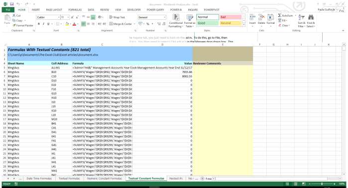 Document Entire Excel Workbook with the Click of a Button
