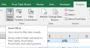 PIVOT TABLE AND SLICERS BRING FLEXIBILITY TO YOUR DATA