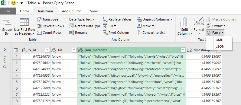 How to Parse Custom JSON Data using Excel