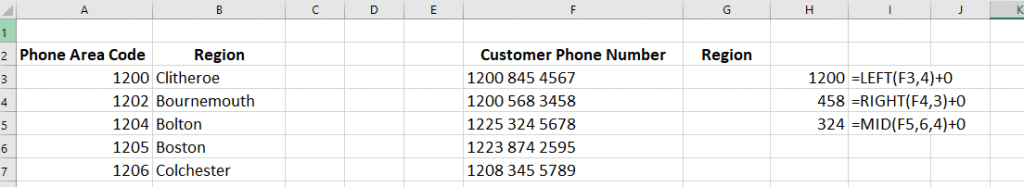 Vlookups with text in excel
