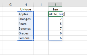 dymanic ranges in excel
