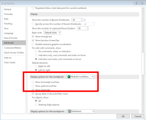 Set Screen Scroll Lock Area in Excel