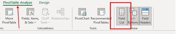 pivot tables