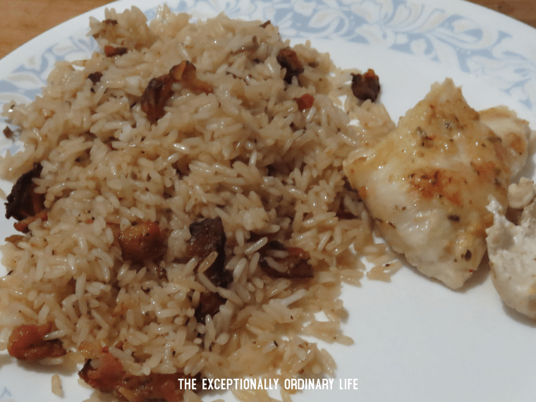 Bacon and onion rice recipe