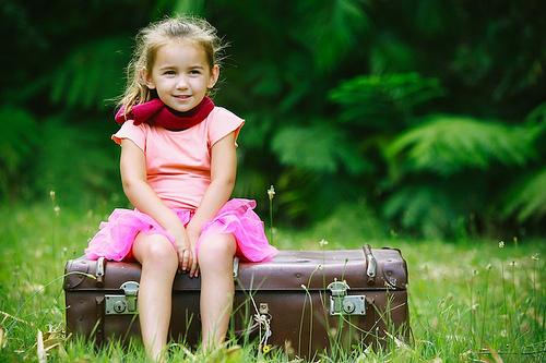 child suitcase photo