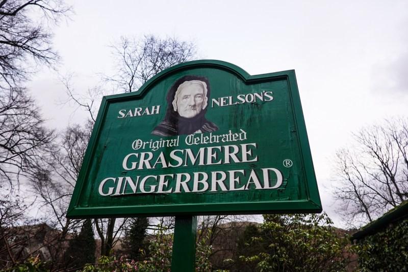 Grasmere Gingerbread shop sign