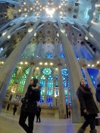 Interior of Sagrada Familia, Barcelona