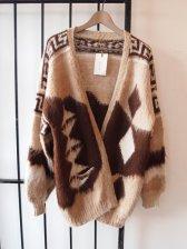 Oversized Cowichan Style Angora Cardigan