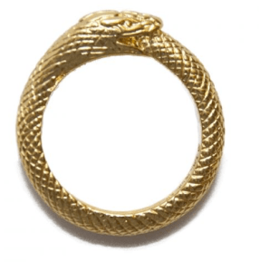 Black Scale- UVT Ouroboros Ring Gold