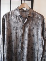 Anicent Aliens Silver Metallic Dress Shirt- The Eye of Faith VIntage