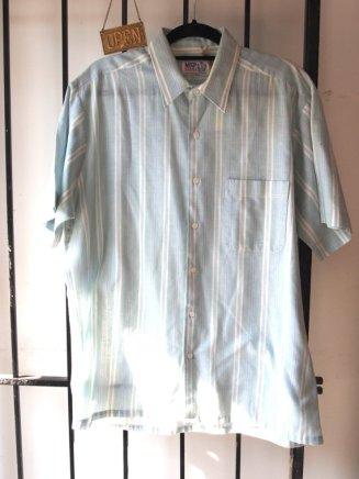 1960s Striped Mint Green Pastel Summer Shirt