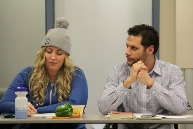 Abe Snobar and Andrea Bartlett at the Jan. 25 board of directors meeting. PHOTO: AL DOWNHAM