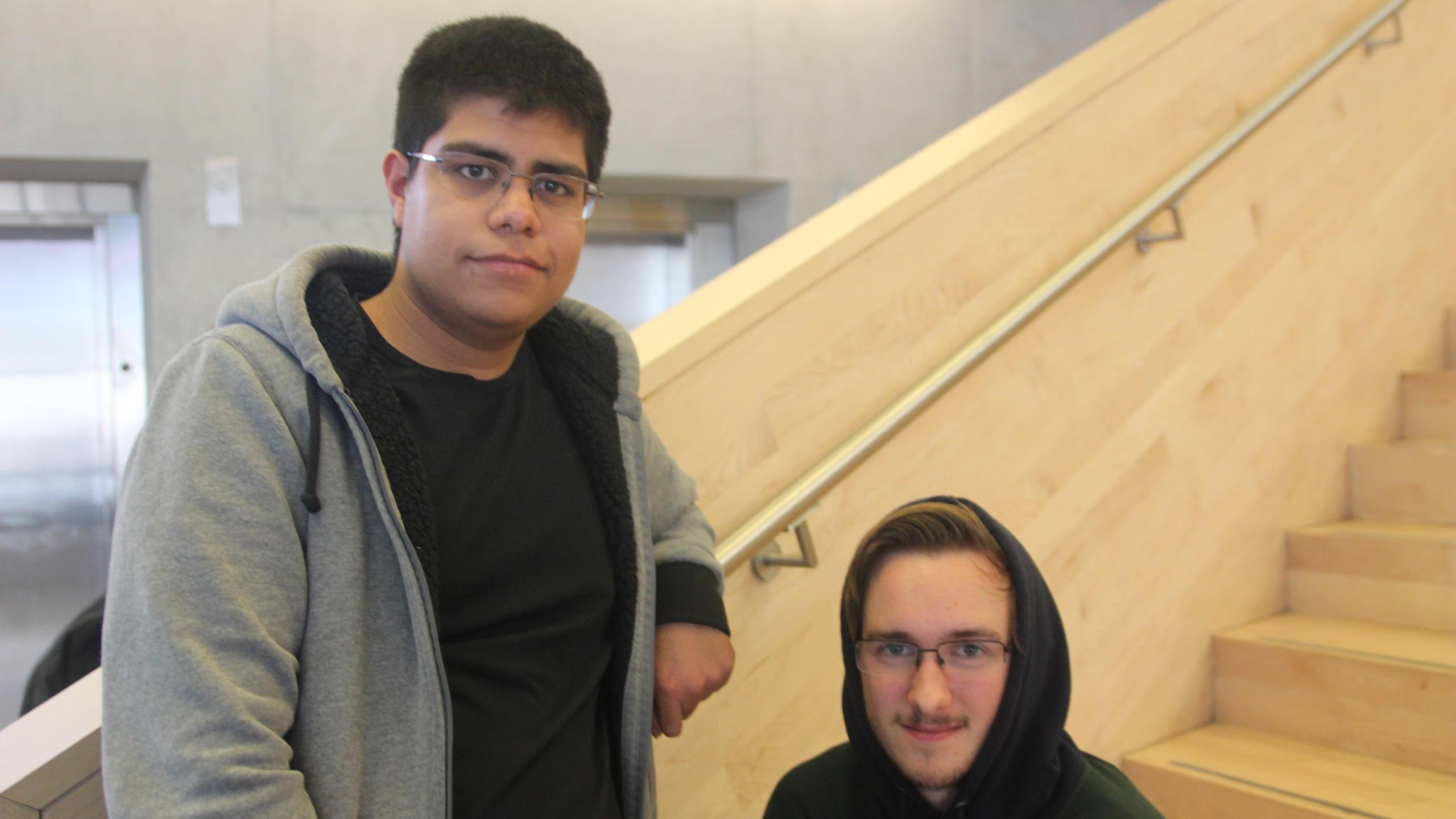 William Argueta, left, and Chris Albanese, right.