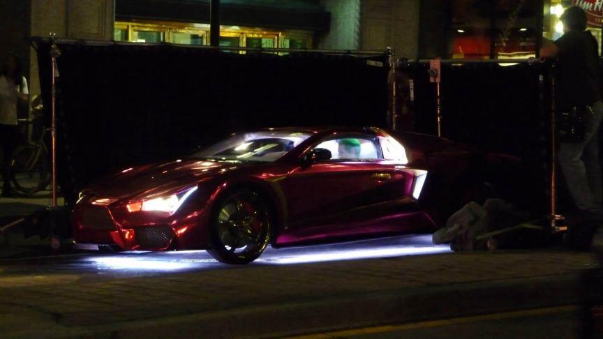 Suicide Squad car on set