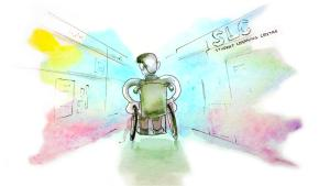 It's easy to get lost at school when you're new. It's even more complicated when you're using a mobility device. ILLUSTRATION: ALANNAH ASTORQUIZA