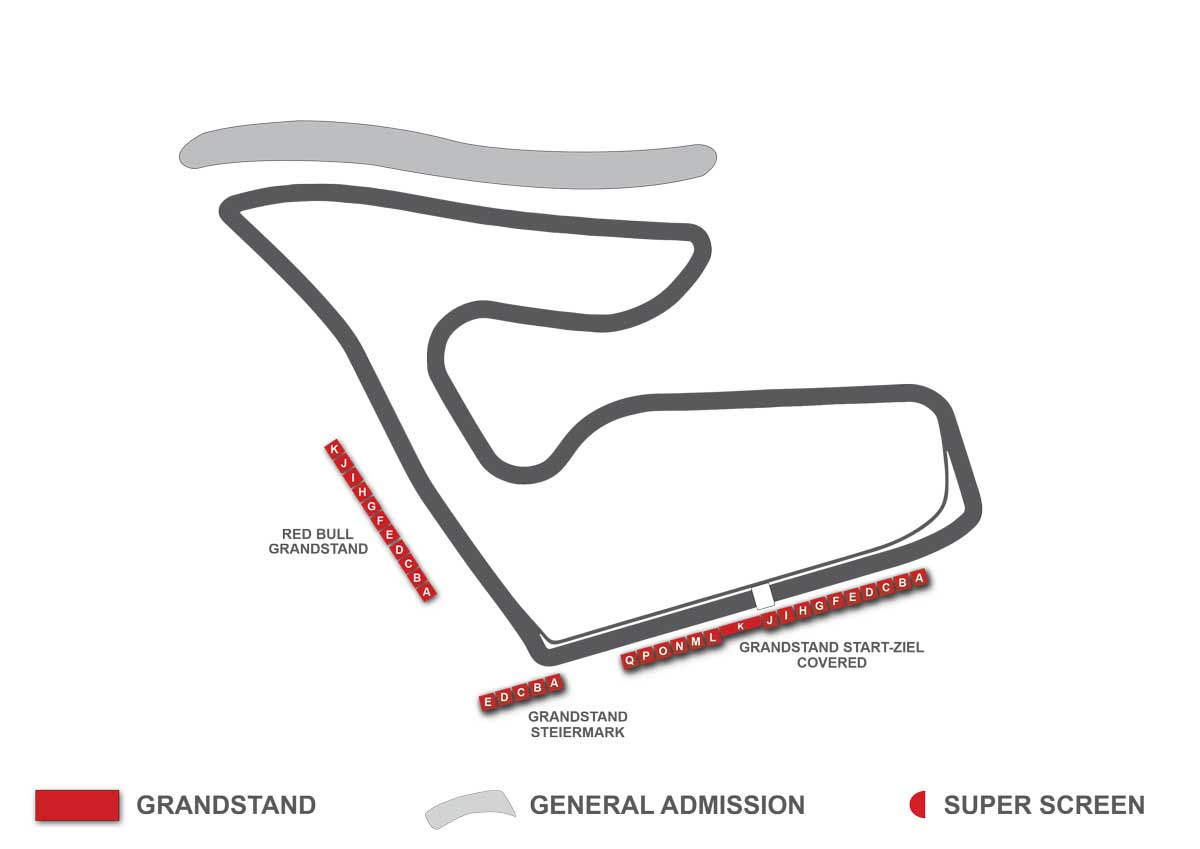 Austria F1 Grandstand Map