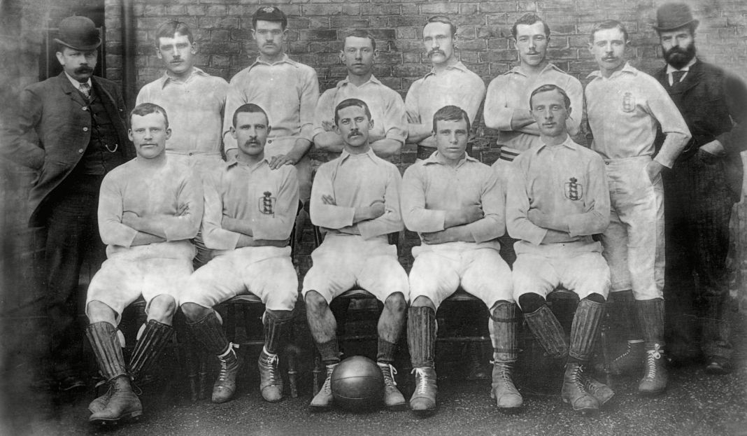 The Blackburn Rovers team of 1891, who retained the FA Cup with a 3-1 victory over Notts County