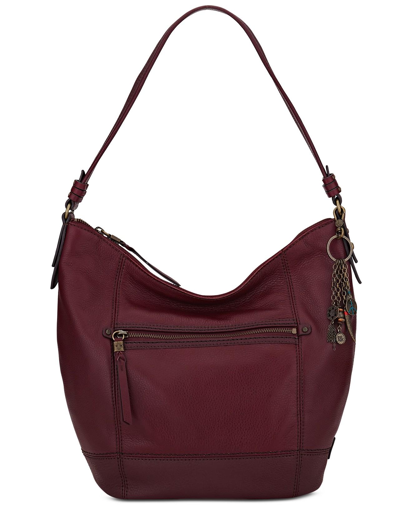 Marsala Hobo Leather Bag