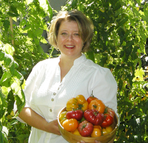 Jennifer Arnott in her garden