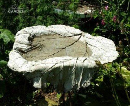 cement cast birdbath