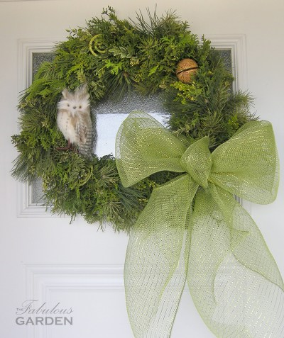 wreath with owl