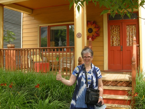 The orange house gets the thumbs up from Sheila