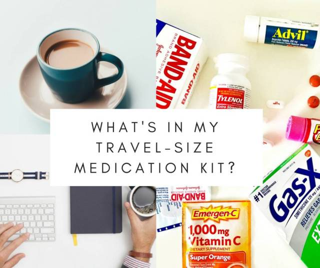 What's In My Travel-Size Medication Kit? – Meet Mariella