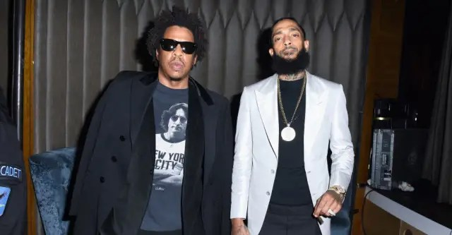 """JAY-Z and Nipsey Hussle appear together on """"What It Feels Like"""" 1"""