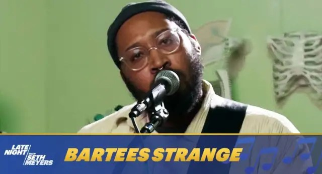 """Watch Bartees Strange perform """"Boomer"""" on Late Night with Seth Meyers 1"""