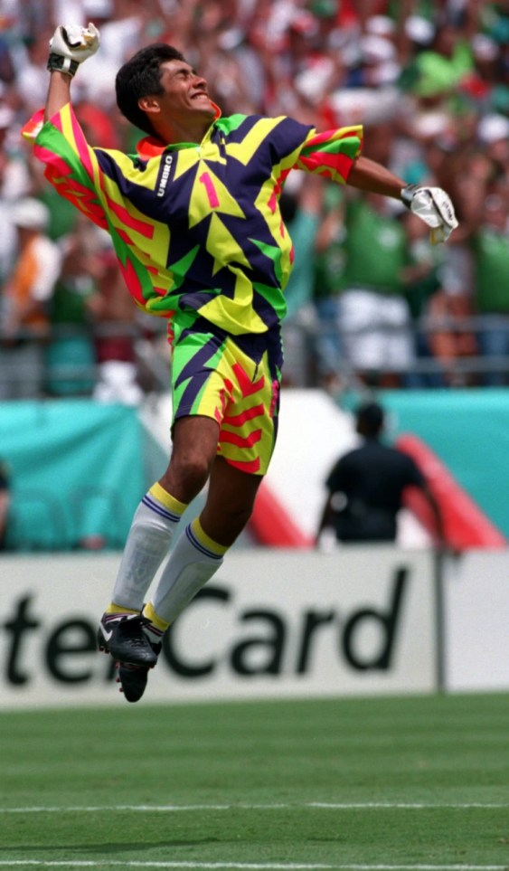 Image result for Jorge Campos 1994 World Cup Jersey